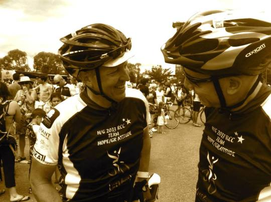 Rob & I at last year's ride.